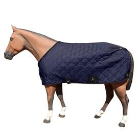 Capa para Cavalo Forrada Aberta no Peito Azul Marinho - M Reis 17758