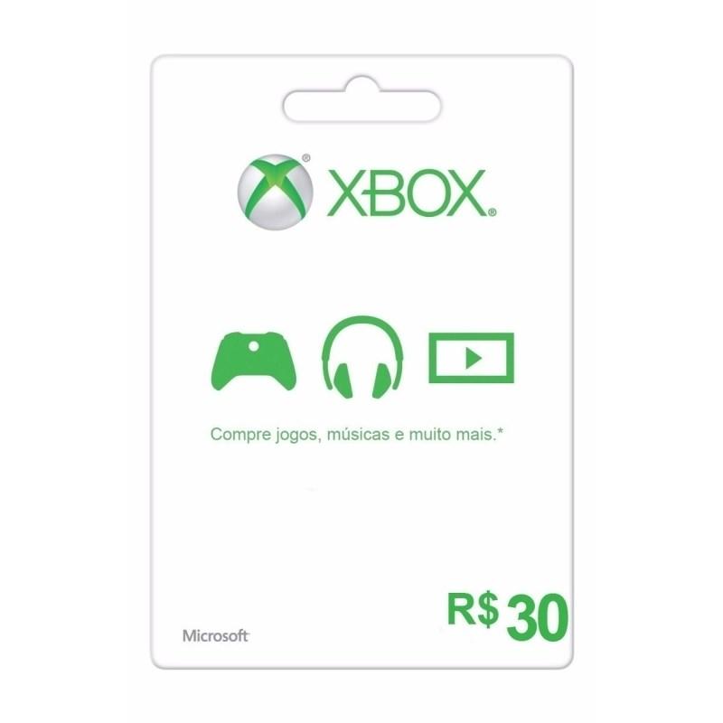 Cartão Presente R$30 Xbox Live Brasil - Microsoft