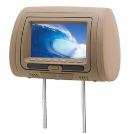 """Monitor KX3 DVD728B LCD 7"""" Com Encosto De Cabeça - Bege (Unidade)"""