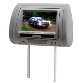 """Monitor KX3 DVD728C LCD 7"""" Com Encosto De Cabeça - Cinza (Unidade)"""