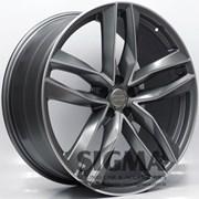 Roda Audi RS6 Aro 22x9,5 Grafite Diamantado Fosco 5x112 Et 35