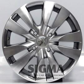 Roda Krmai R12 (Peugeot) Aro 15x6 Cromolock Diamantada 4x108 ET 25